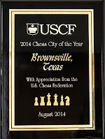 Plaque of 2014 Chess City of the Year