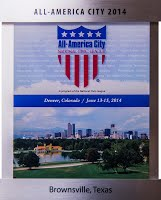 2014 All America City plaque