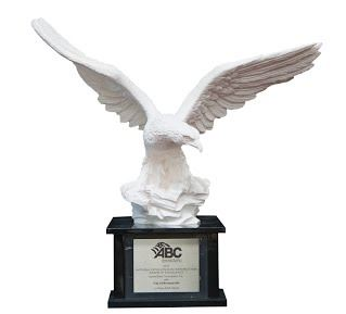 National Excellence in Construction Eagle Award Trophy