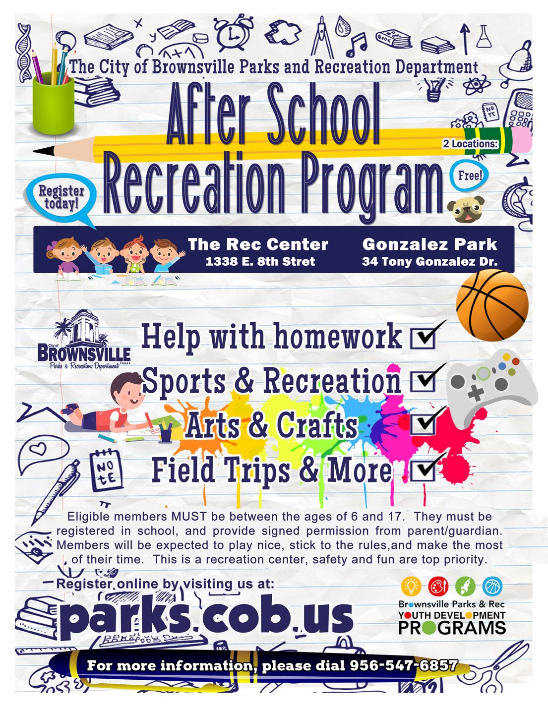 After School Recreation Program Info