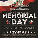 Memorial Day Silent March 2017 veterans park