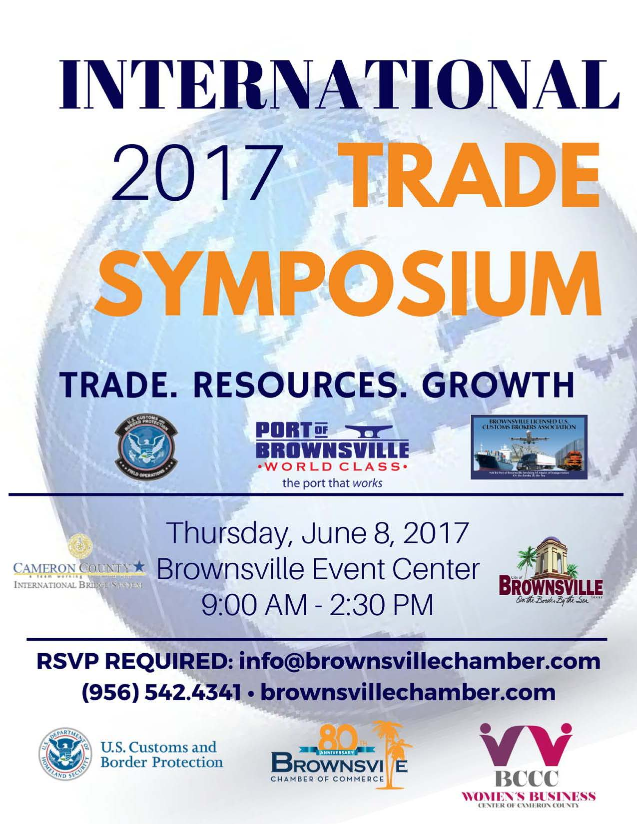 2017 International Trade Symposium Flyer