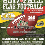 NFL Flag Football Fall Youth 2017 registration