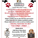 CHICKFILA ADOPT MORE PETS EVENT SEP 2017