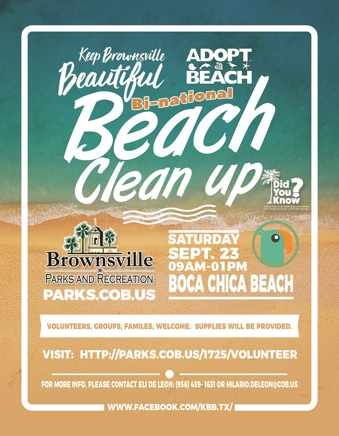 Bi National Beach Clean Up KBB 2017 fall