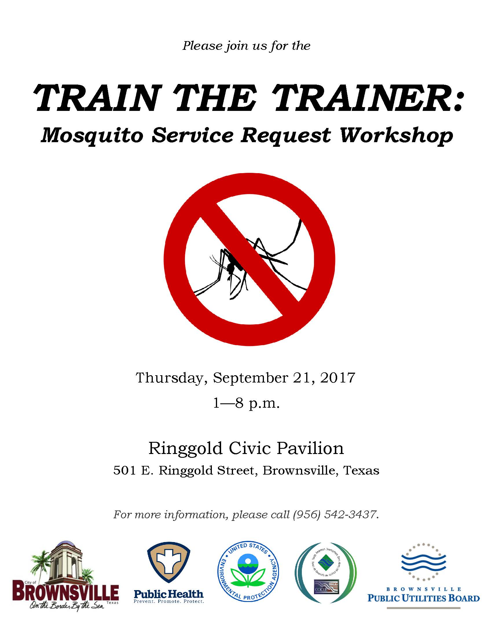 Train the Trainer - Mosquito Service Request Workshop Flyer