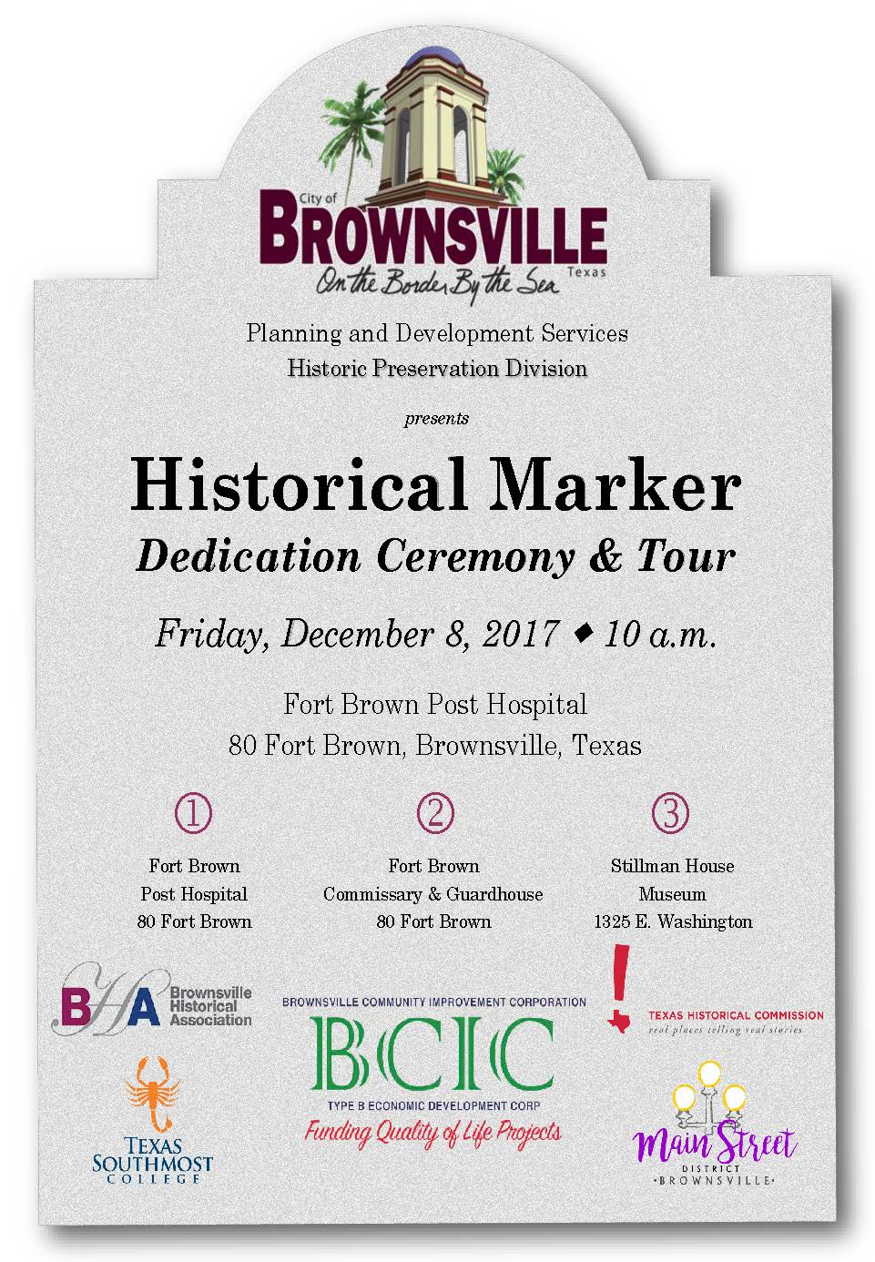 Please Join Us - Historical Marker Dedication Ceremony and Tour - 1
