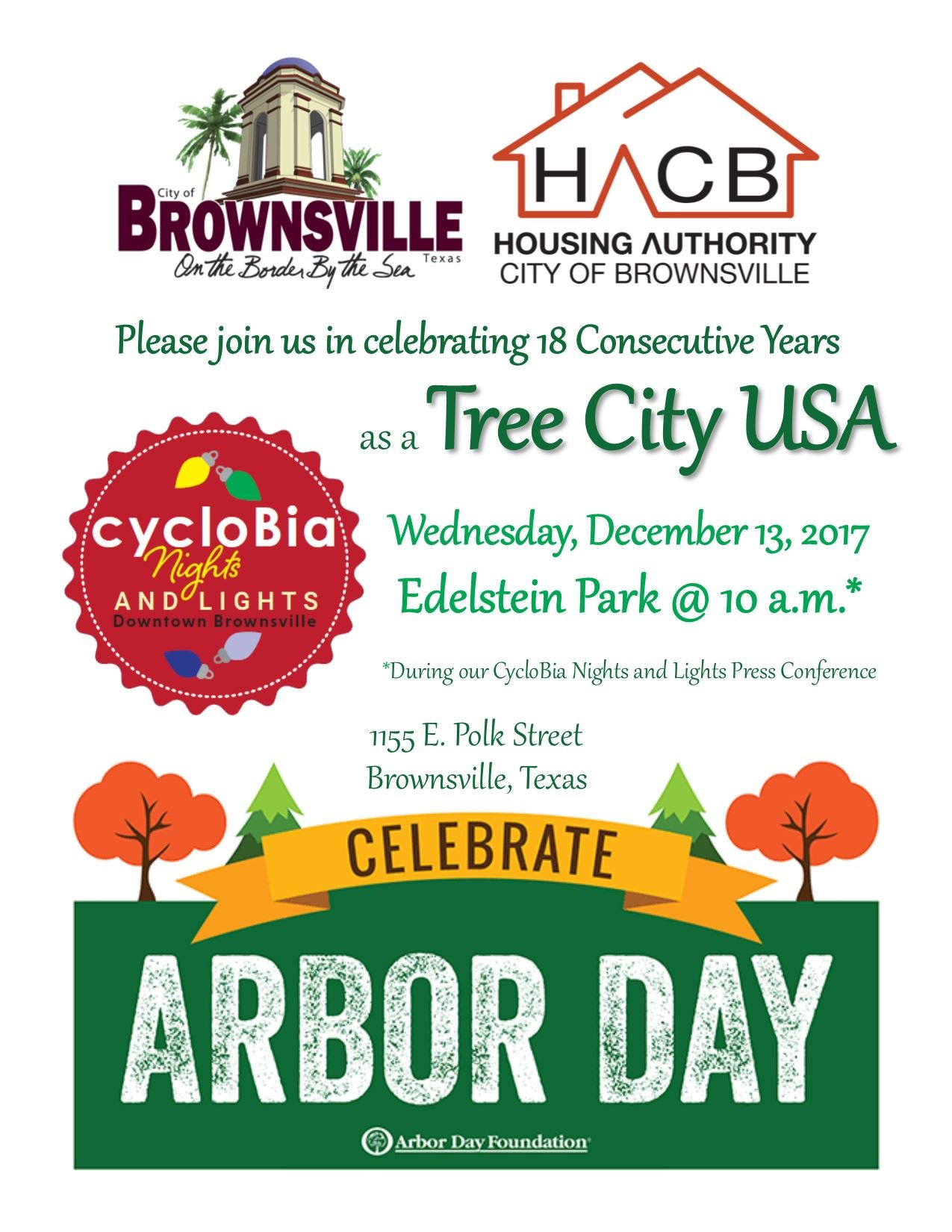 Tree City USA Celebration at CycloBia Press Conference