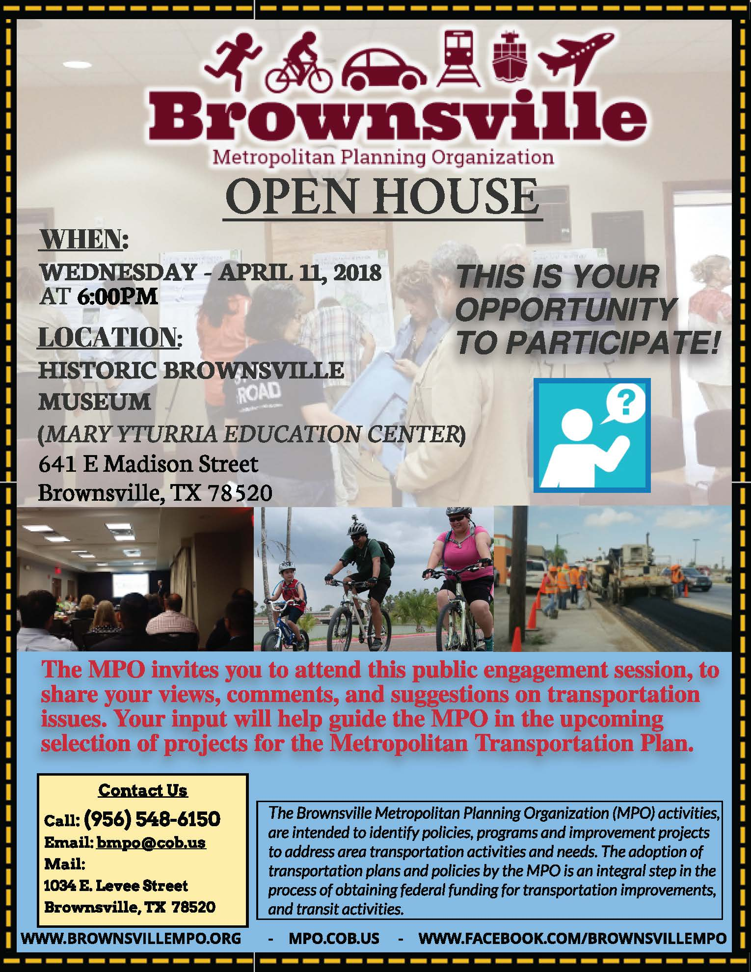 MPO Open House Flyer (English)