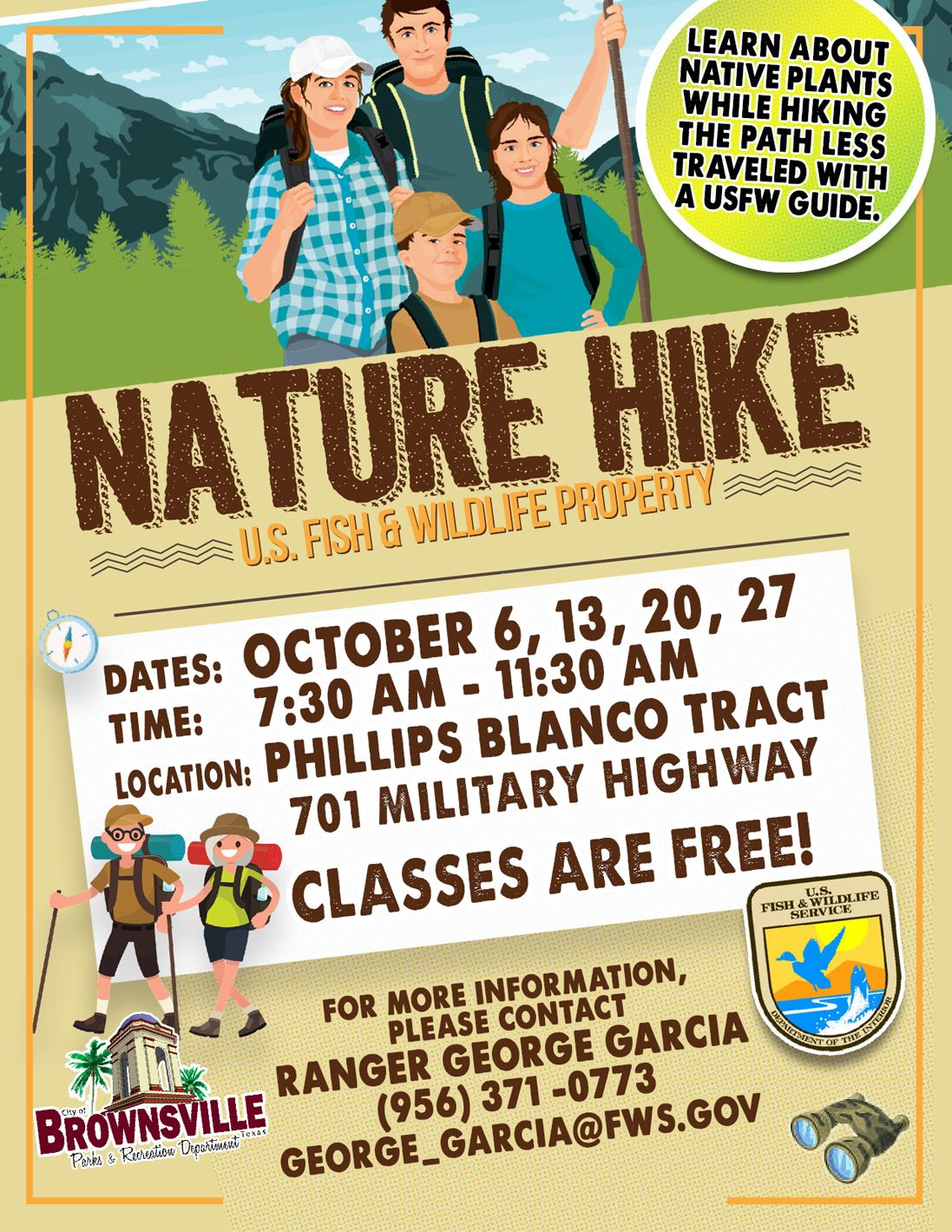 Nature Hike Classes Mil Hwy