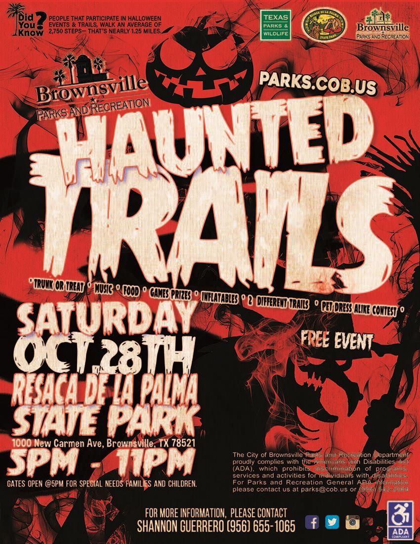 Haunted Trails at Resaca De La Palma park 2017